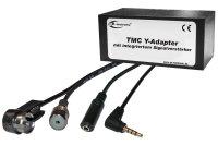 TMC Y-Adapter mit Verstärker & Audiofunktion