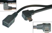 Mini USB-Kabel mit Winkelstecker (rechts)