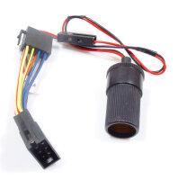 12V Buchse für ISO Stecker, inkl.Sicherung