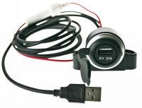 USB Buchse mit Netzteil und Datenverbindung