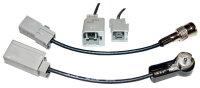 Antennenadapter (Set) ISO --> Peugeot/Fiat/Citroen (GT5)