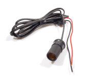 12V Buchse mit Anschlusskabel und Sicherung